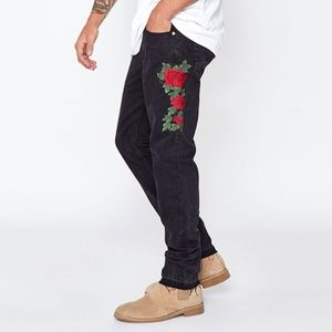🆕 Pacsun | Embroidered Skinny Raw Hem Jeans Sz 30